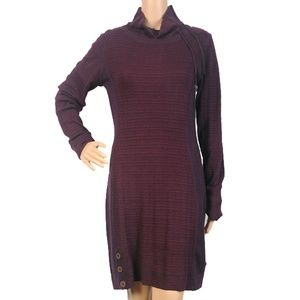 Prana Burgundy Kelland Dress